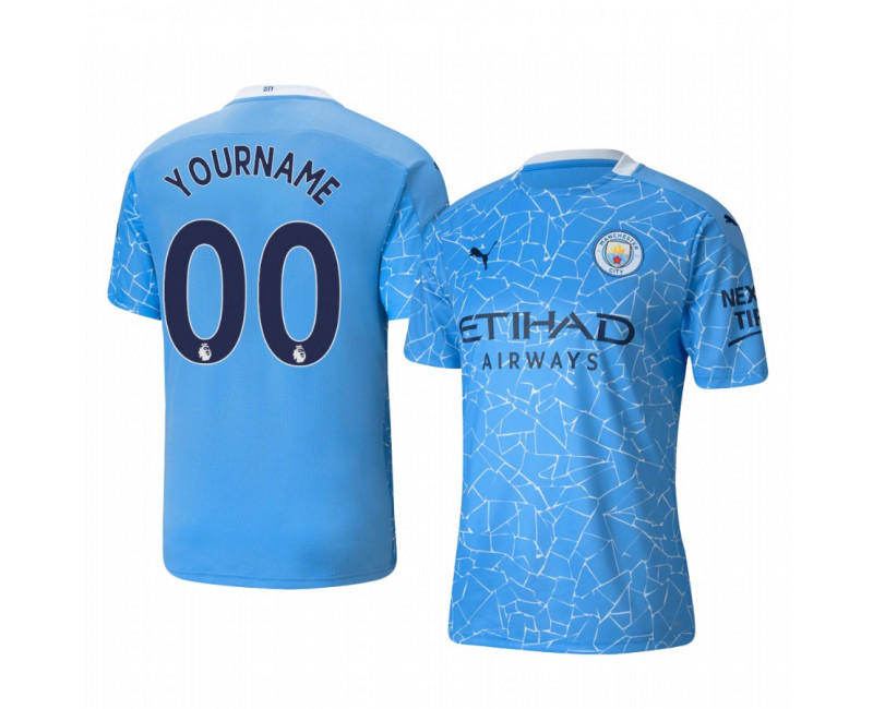 Youth Custom Authentic Jersey Manchester City Blue Home 2020/21