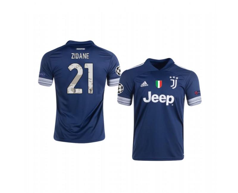 Zinedine Zidane Authentic Jersey Juventus Away 2020/21