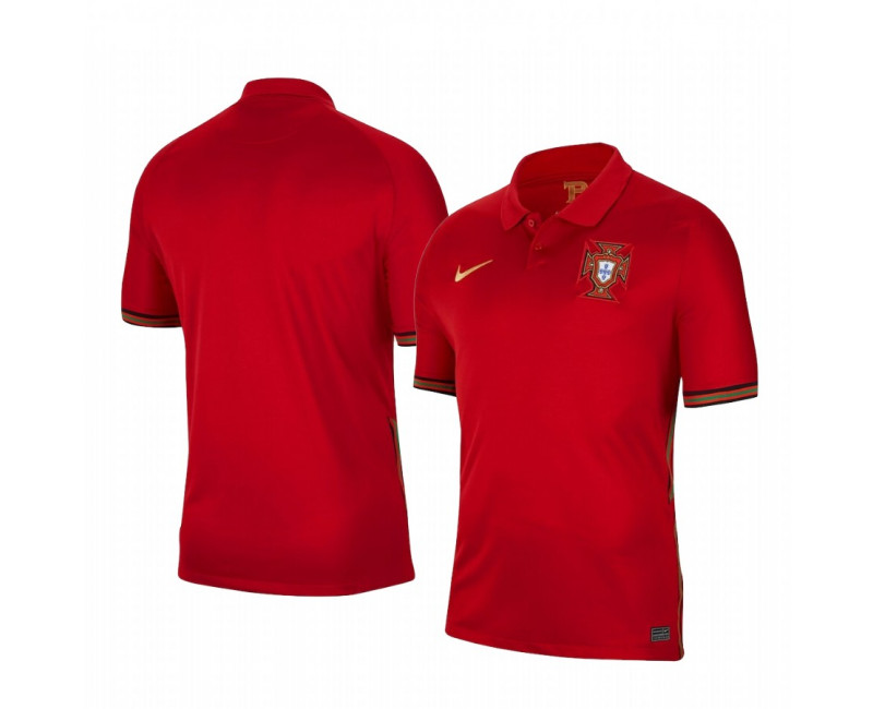 Youth Portugal National Team Replica Jersey 2020/21 Home Short Sleeve