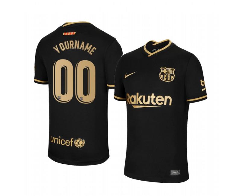 Custom Barcelona Authentic Jersey 2020/21 Away Short Sleeve
