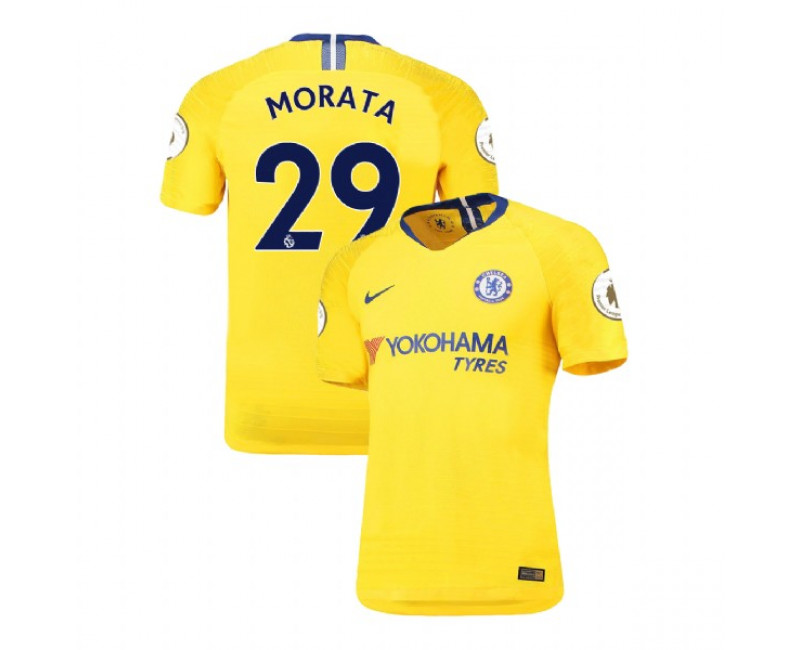 Chelsea Away #29 Alvaro Morata Yellow Replica 2018/19 Jersey