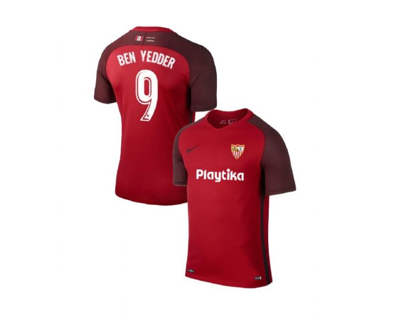 YOUTH 2018/19 Sevilla Away #9 Wissam Ben Yedder Red Authentic Jersey