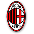 ac milan football club shop logo